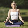 Image of woman meditating.