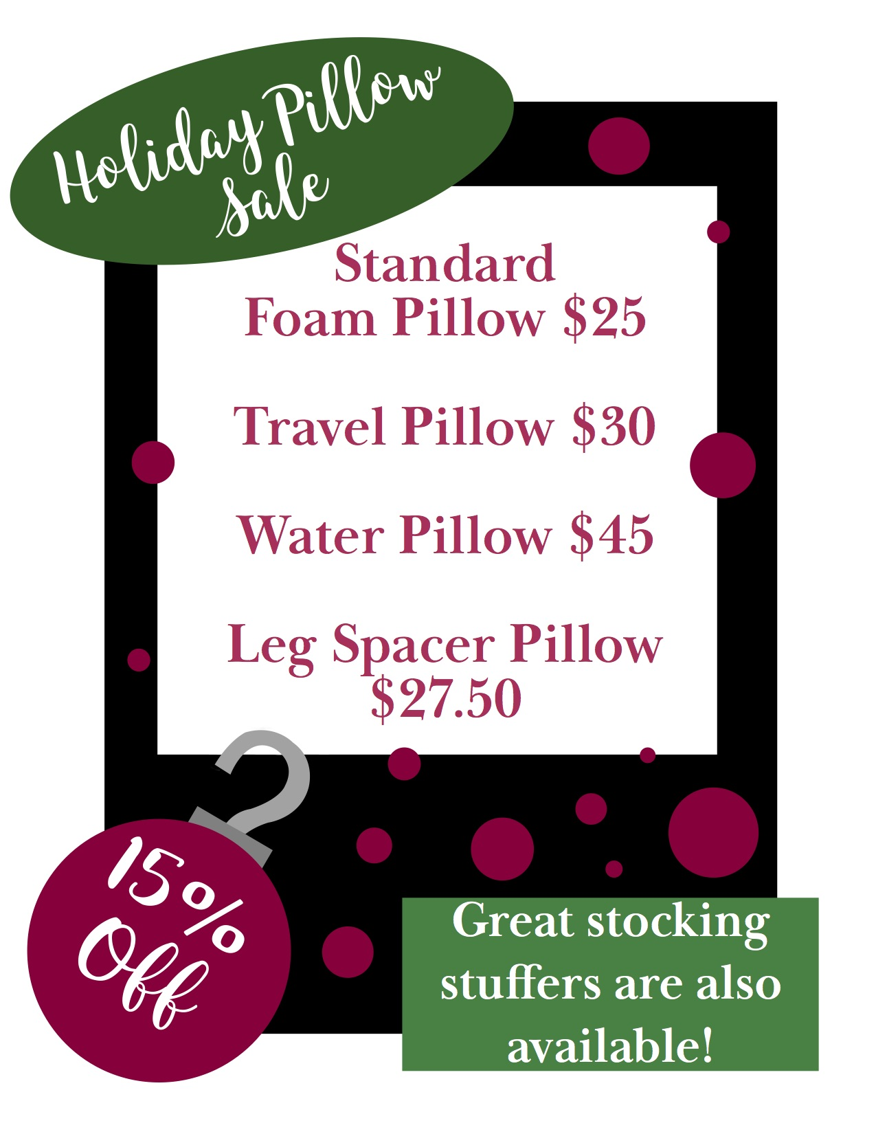 Holiday Pillow Sale 2019