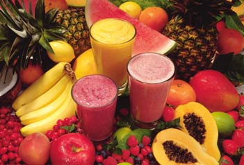 fruits and smoothie