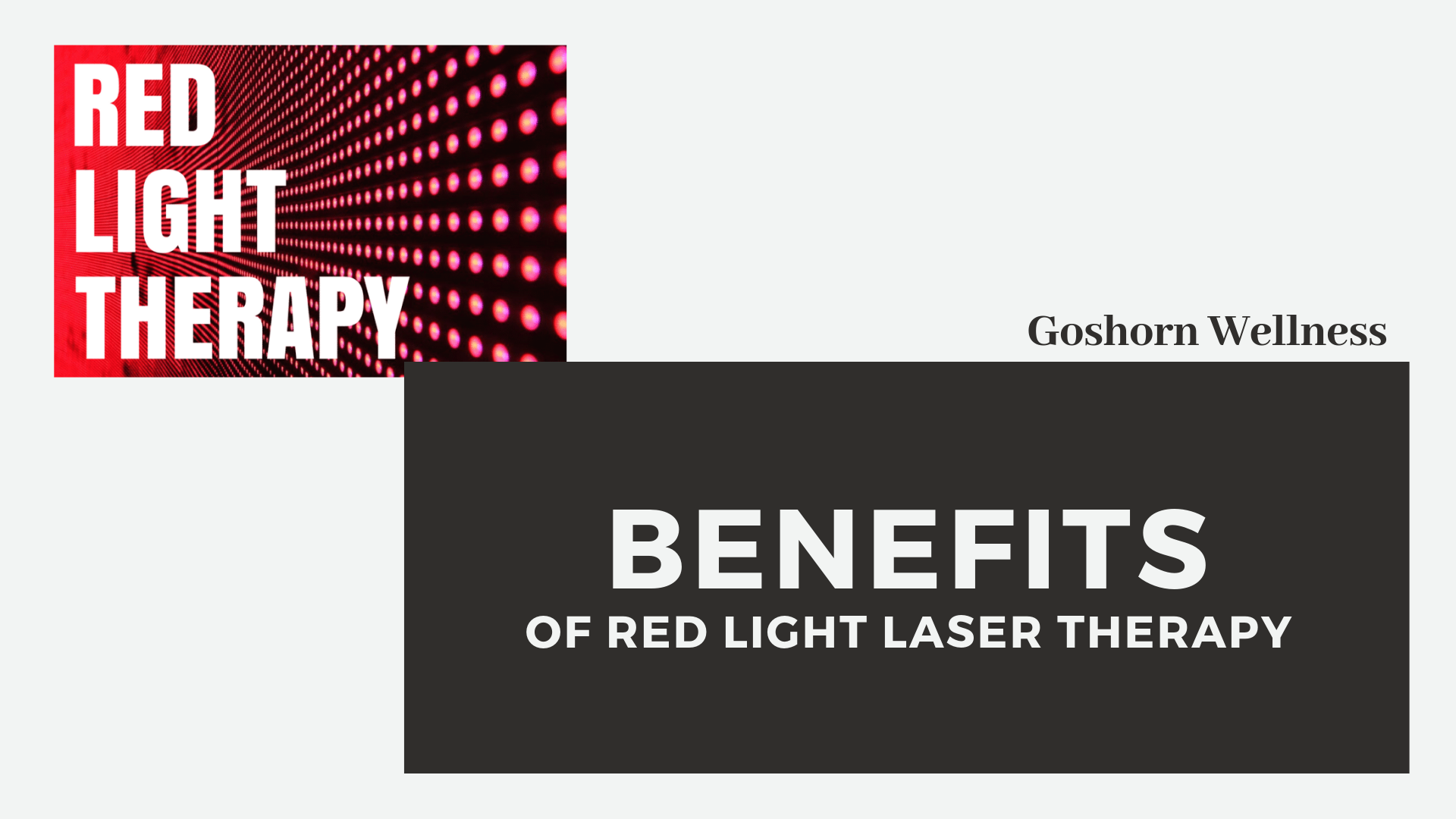 Benefits of Red Light Laser Therapy