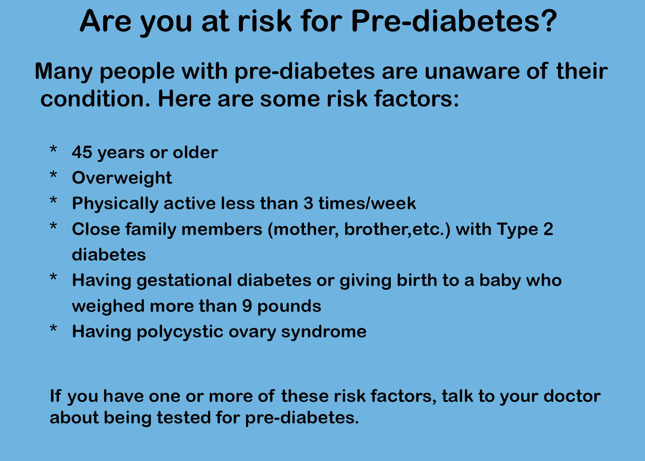 pre-diabetes risk