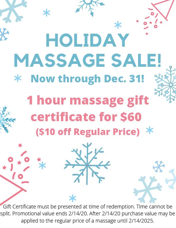 Holiday Massage Sale