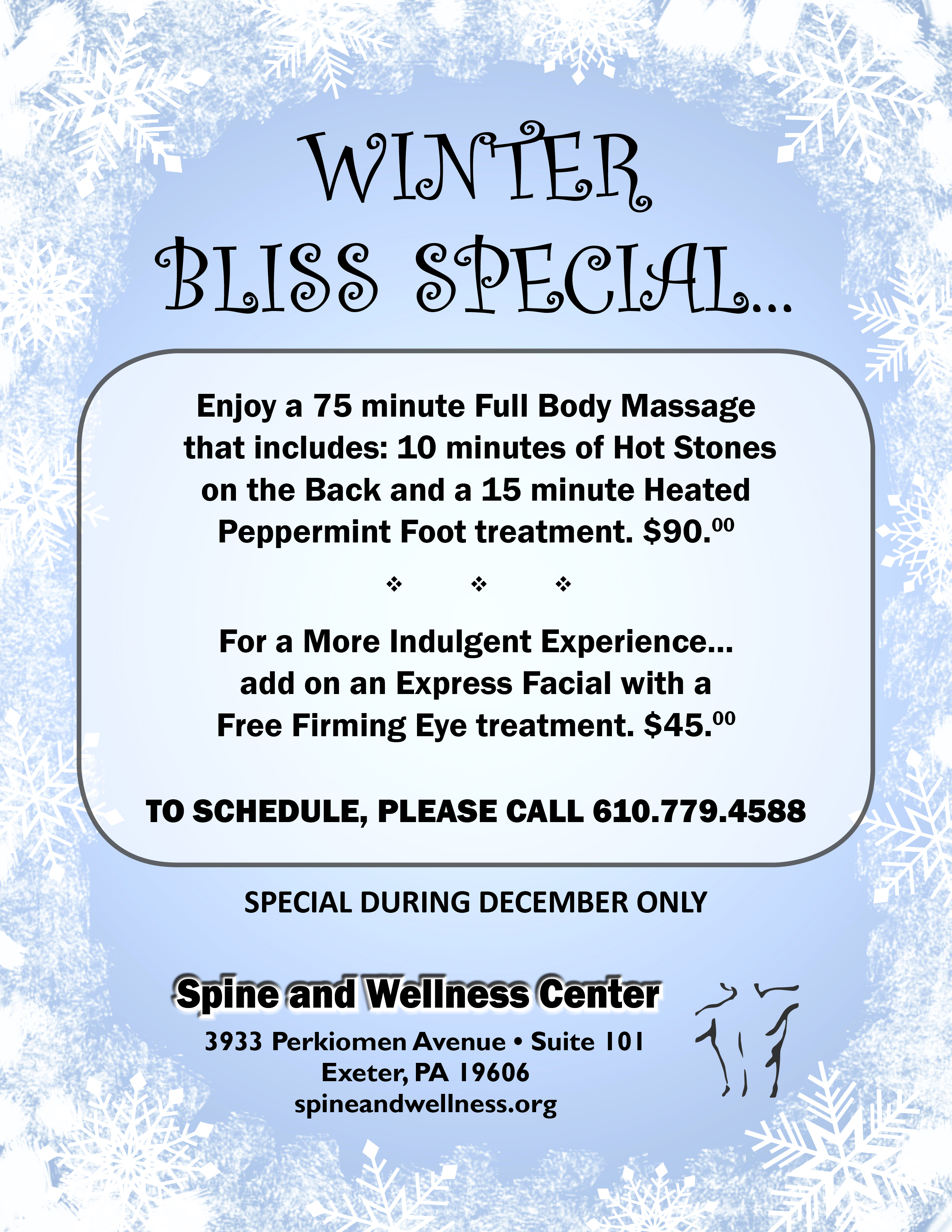 Winter Bliss Massage Special