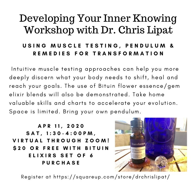 Developing Your Inner Knowing Workshop April 2020