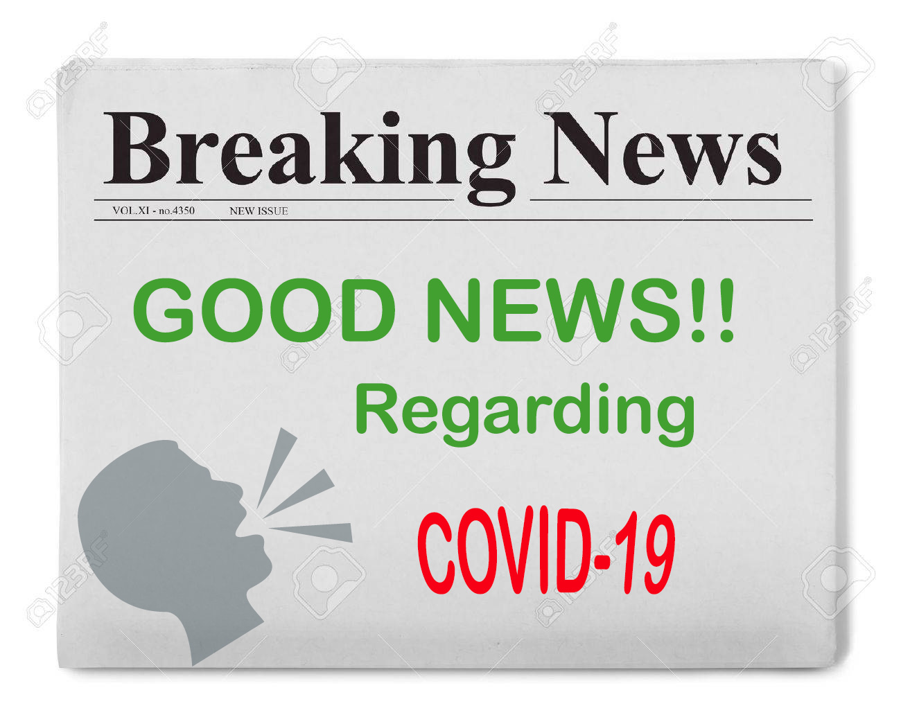 newspaper good news regarding covid-19