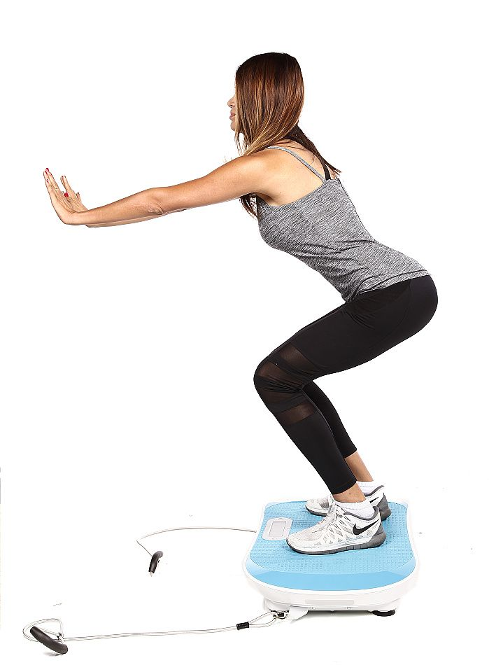 squatting on whole body vibration board