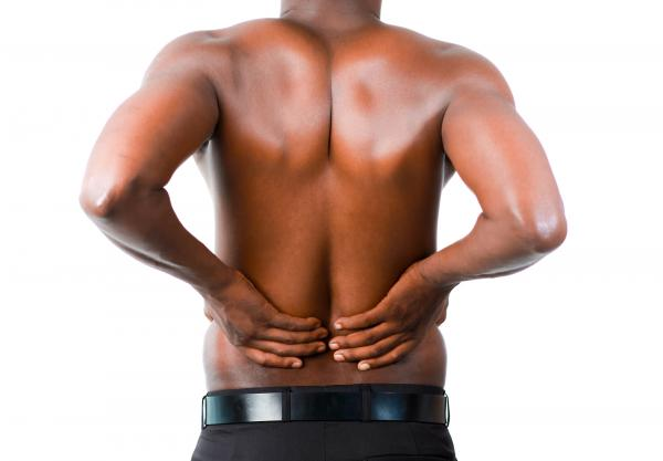 Man suffering from back pain in Los Angeles, CA