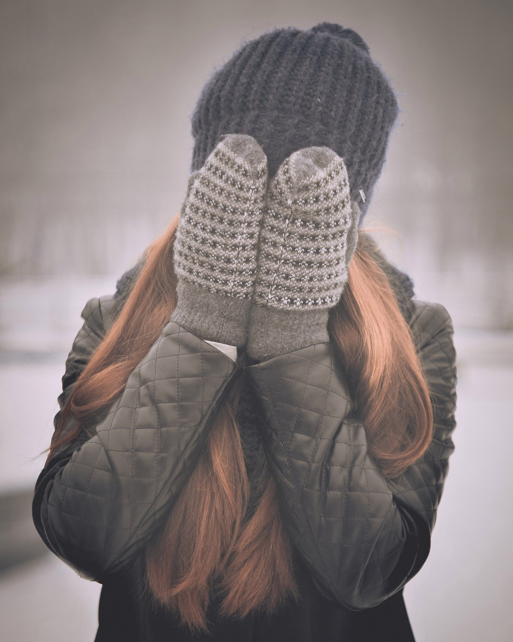 photo of girl with mittens
