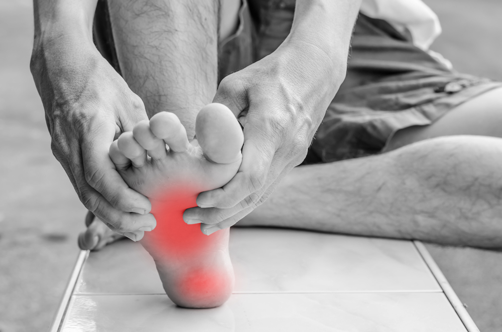 Person with plantar fasciitis