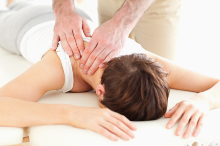Neck adjustment from Tracy Chiropractor