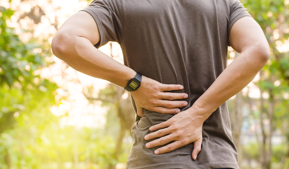 man suffering from lower back pain