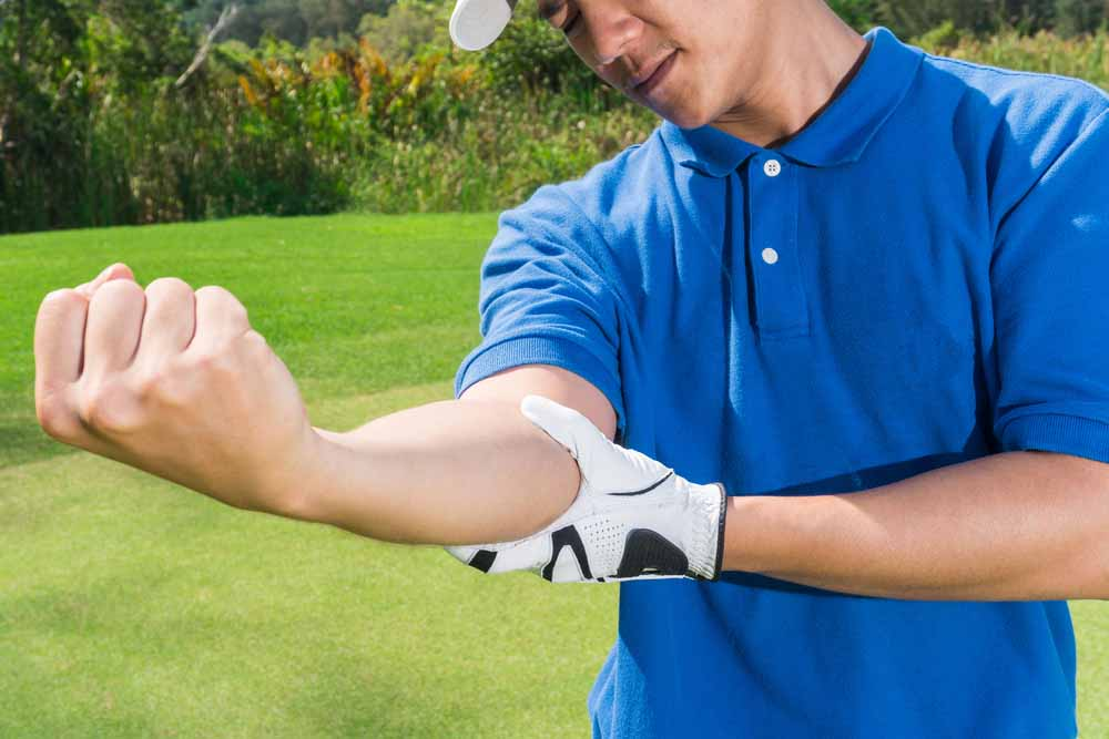 sports injury from golf